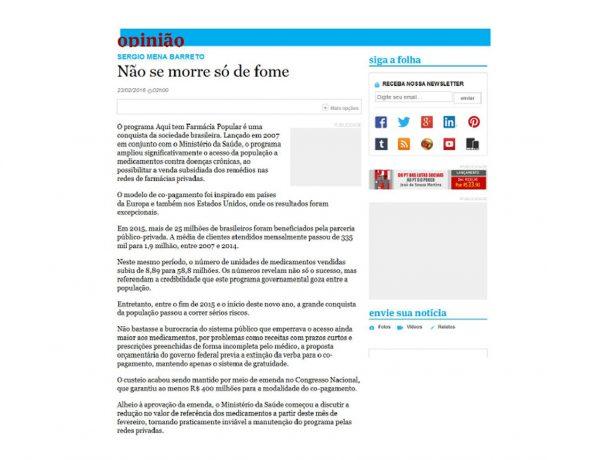 Abrafarma – Folha de S.Paulo – 23/02/2016