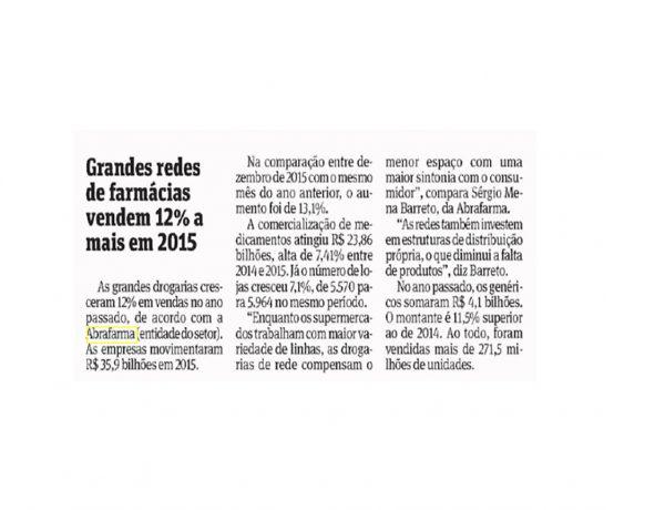 Abrafarma – Folha de S.Paulo – 27/01/2016