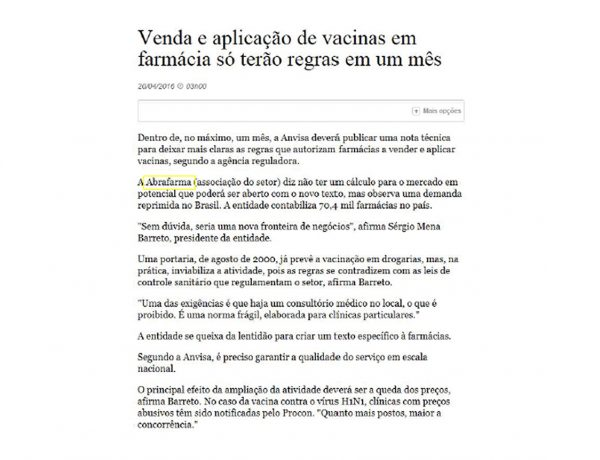 Abrafarma – Folha de S.Paulo – 20.04.2016