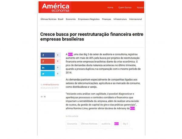 BDO – América Economia – 22/01/2016