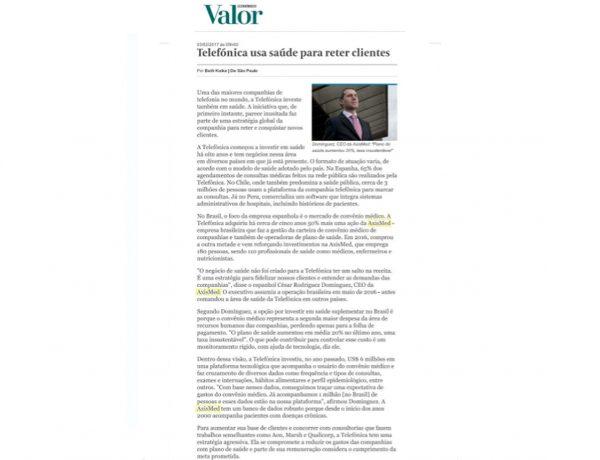Axismed – Valor Econômico – 03.02.2017