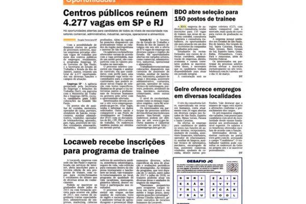 BDO – Jornal JC Concursos & Empregos – 04 a 10.03.2017
