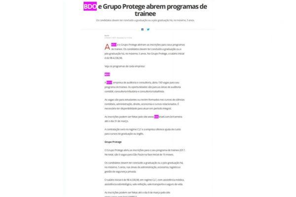 BDO – Portal G1 – 21.02.2017