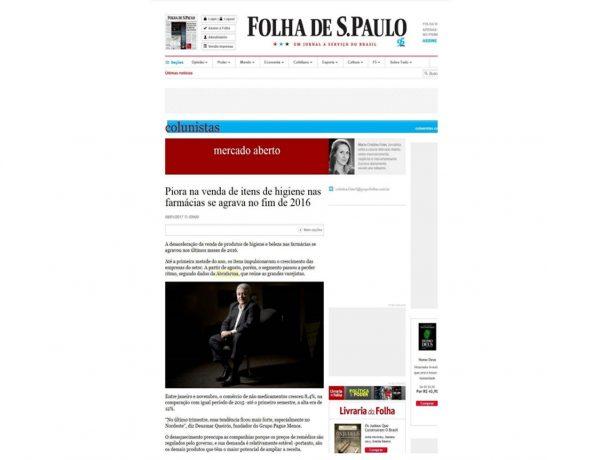 Farmácias Pague – Menos Folha de S.Paulo – 06.01.2017