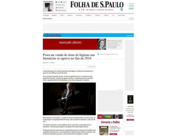 Farmácias Pague Menos – Folha de S.Paulo – 06.01.2017