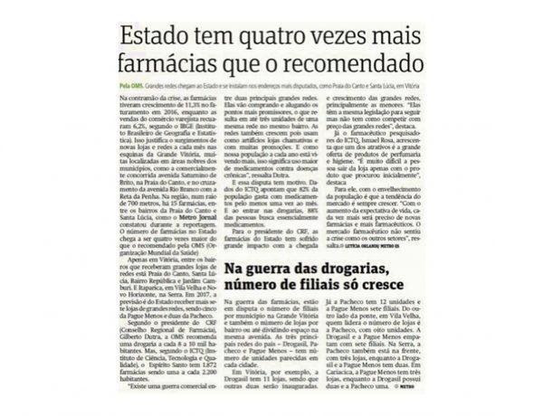 Farmácias Pague Menos – Metro Grande Vitória – 13.03.2017