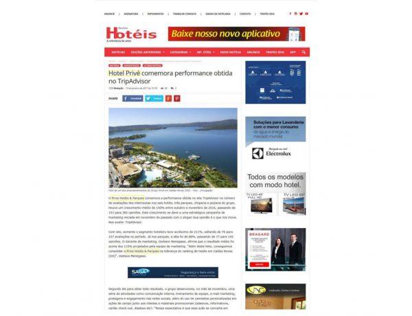 Prive Hotéis & Resorts – Revista Hotéis – 13.01.2017