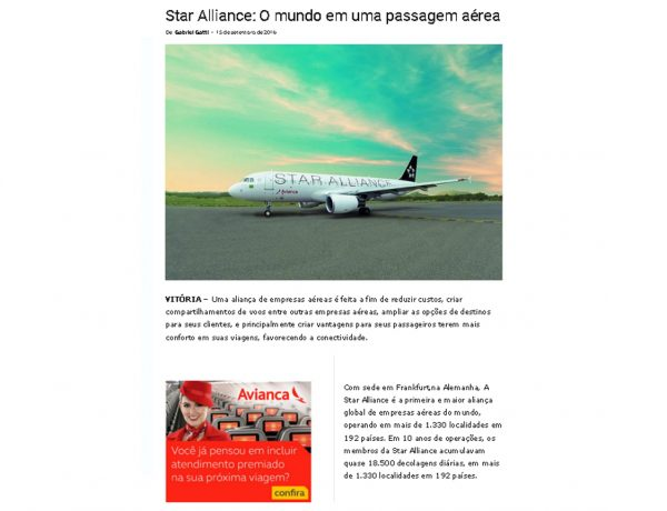 Star Alliance – Aeroagora – 15.09.2016