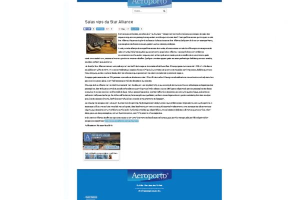 Star Alliance – Aeroporto Jornal – 2016