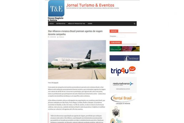 Star Alliance – Jornal Turismo & Eventos – 19.04.2016