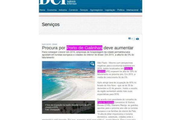 Porto de Galinhas – Jornal DCI – 04.01.2016