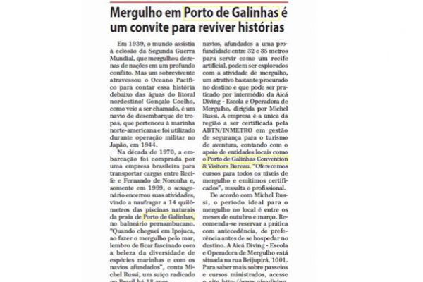 Porto de Galinhas – Jornal de Uberaba – 05.02.2017