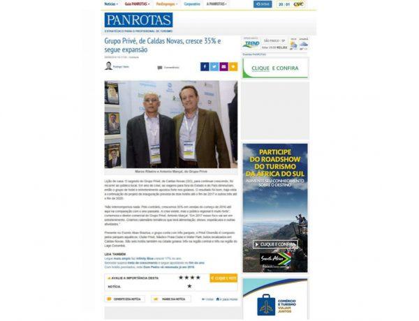 Prive Hotéis & Resorts – Jornal Panrotas – 29.09.2016