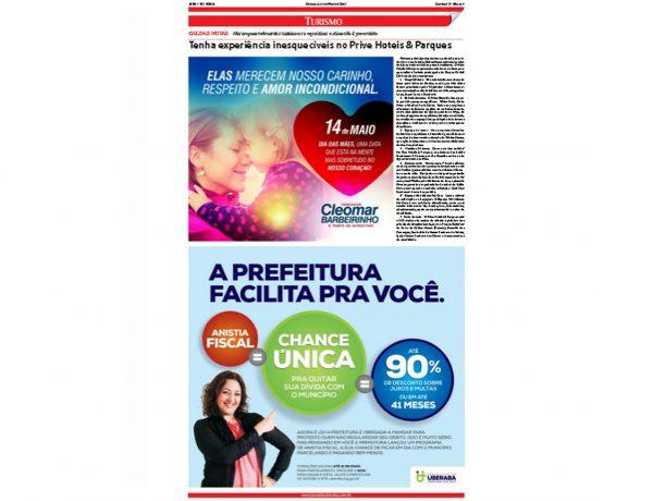 Prive Hotéis & Resorts – Jornal de Uberaba – 14.05.2017