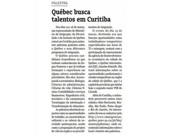 Quebec – Diário da Industria & Comércio – 05.03.2017