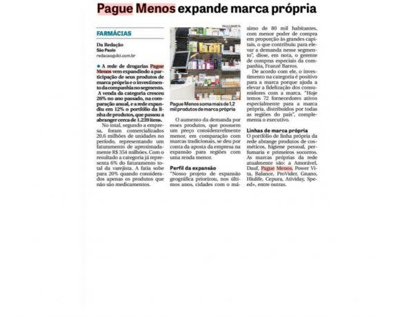 Farmácias Pague Menos – Jornal DCI – 03.07.2017