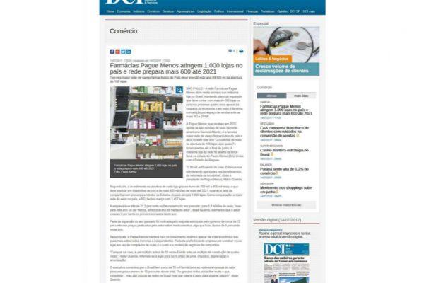 Farmácias Pague Menos – Jornal DCI – 14.07.2017