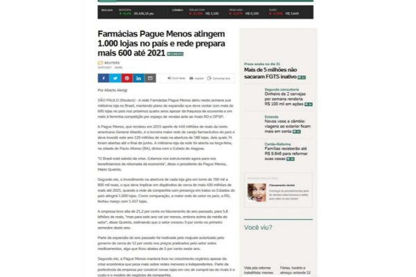 Farmácias Pague Menos – Uol – 14.07.2017
