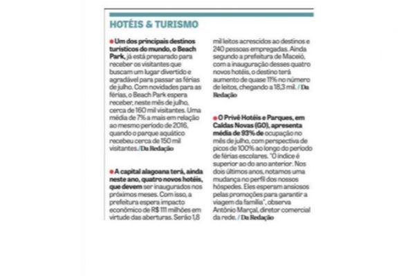 Prive Hotéis & Resorts – Jornal DCI – 07.07.2017