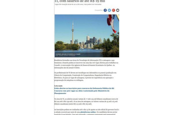 Quebéc – Gazeta Online – 19.07.2017