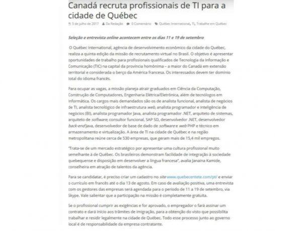 Quebéc – Mundo RH – 05.07.2017