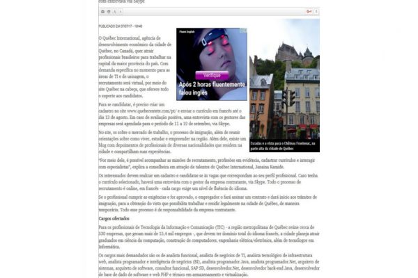 Quebéc – O Tempo – 07.07.2017