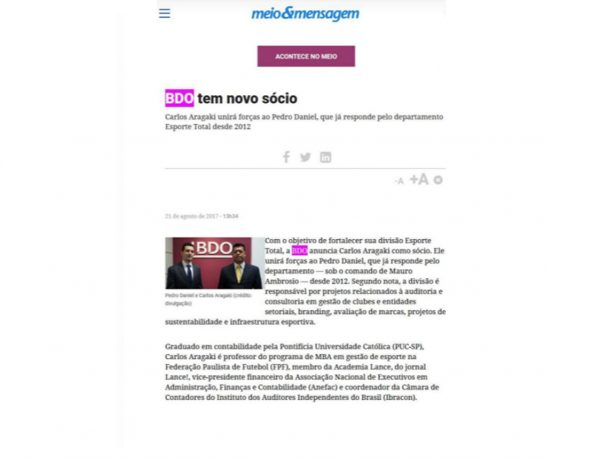 BDO – Meio & Mensagem – 21.08.2017