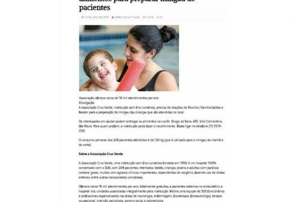 Cruz Verde – Jornal Tijucas – 10.07.2017