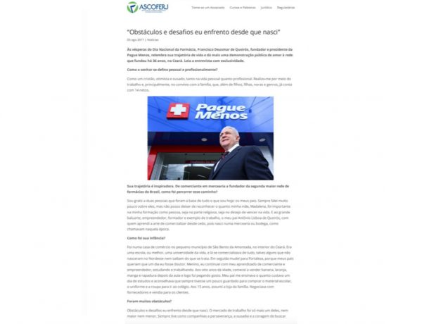 Farmácias Pague Menos – Ascoferj – 03.08.2017