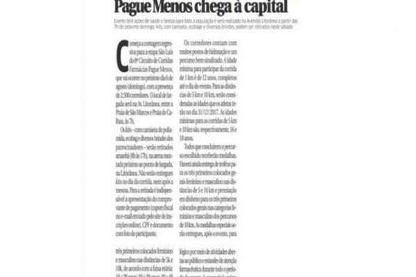 Farmácias Pague Menos – O Estado do Maranhão – 04.08.2017
