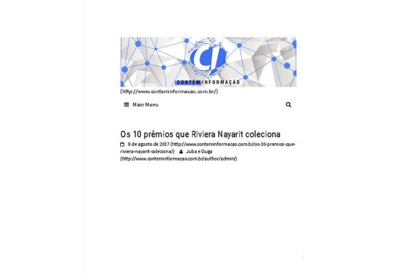 Riviera Nayarit – Contém Informação – 09.08.2017